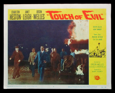 Touch of Evil lobby card 1958 Orson Welles