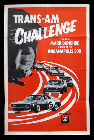 Trans-Am Challenge one sheet 1972 car racing