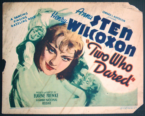 Two Who Dared title card 1936 Anna Sten