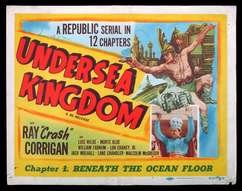 Undersea Kingdom title card 1950 movie serial