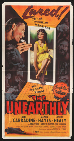 The Unearthly three sheet 1957 horror