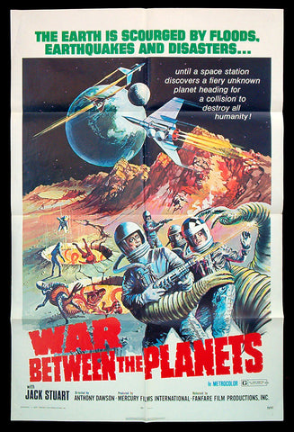 War Between The Planets one sheet 1971 sci-fi