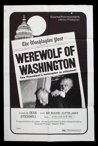Werewolf of Washington one-sheet 1973 horror