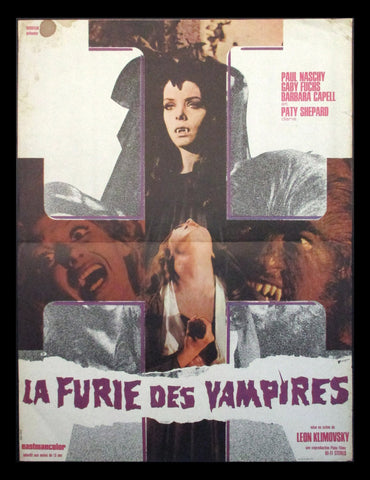The Werewolf vs The Vampire Woman French movie poster Paul Naschy