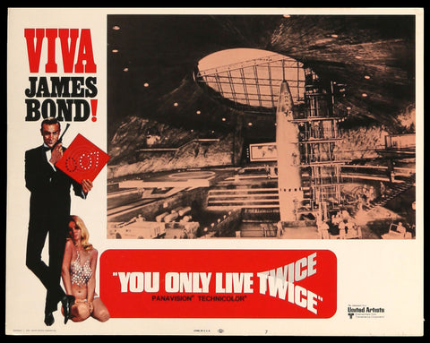 You Only Live Twice 1970 lobby card #7 007 James Bond