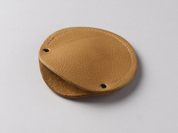Cashew leather circular cable case