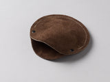Chocolate brown suede circular cable case
