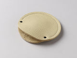 Cream leather circular cable case