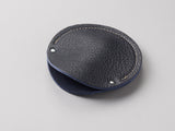 Indigo blue leather circular cable case