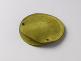 Leaf green suede circular cable case