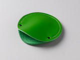 Lime green leather circular cable case