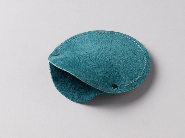 Teal suede circular cable case