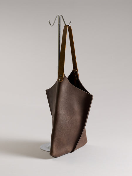 Wedge bag - Dark Chocolate bull hide