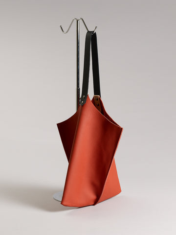 Wedge bag - Heirloom tomato red leather - Limited supply