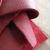 Leather scrap - half pound - Port burgundy bull hide