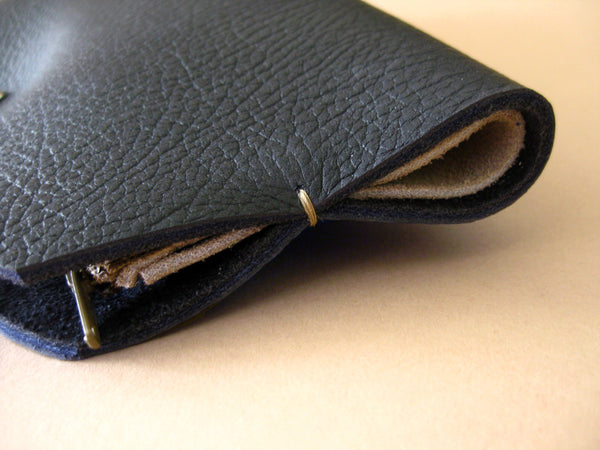 Pocketbook wallet - Indigo blue leather