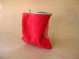 Zipper pouch - Red suede number 2