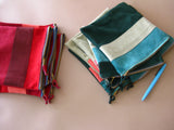 Zipper pouch - Green suede number 6