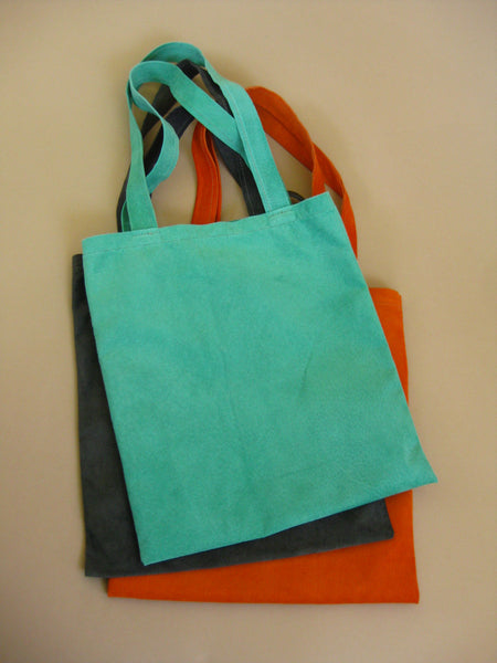 Featherweight tote - Tangerine suede