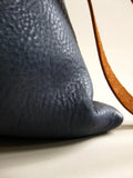 Wedge bag - Indigo blue bull hide