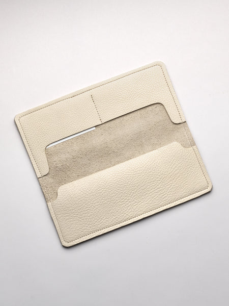 Channel Wallet - Cream bull hide