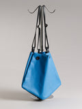 Diamond tote - Mineral Blue leather