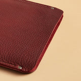 Laptop sleeve - Port burgundy leather