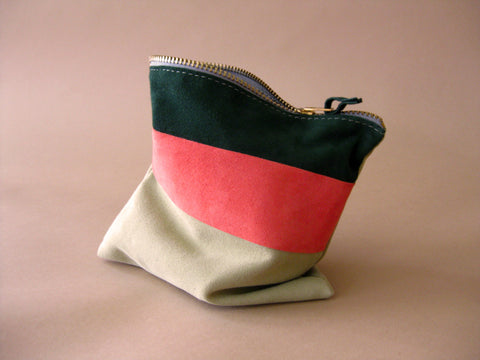 Zipper pouch - Green suede number 4