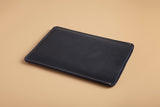 Laptop sleeve - Indigo blue leather