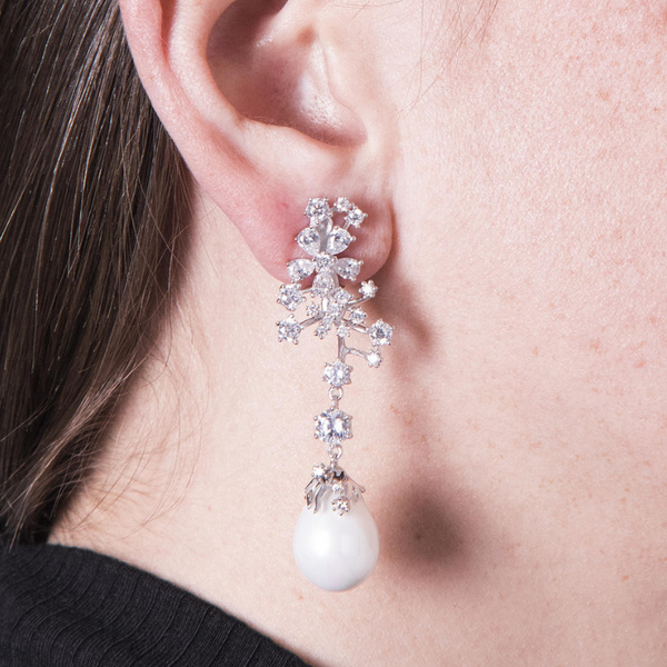 Boucles d'oreilles Falling Pearls