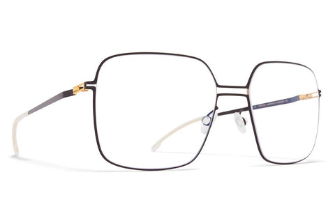 Image of MYKITA  VELMA GOLD BLACK