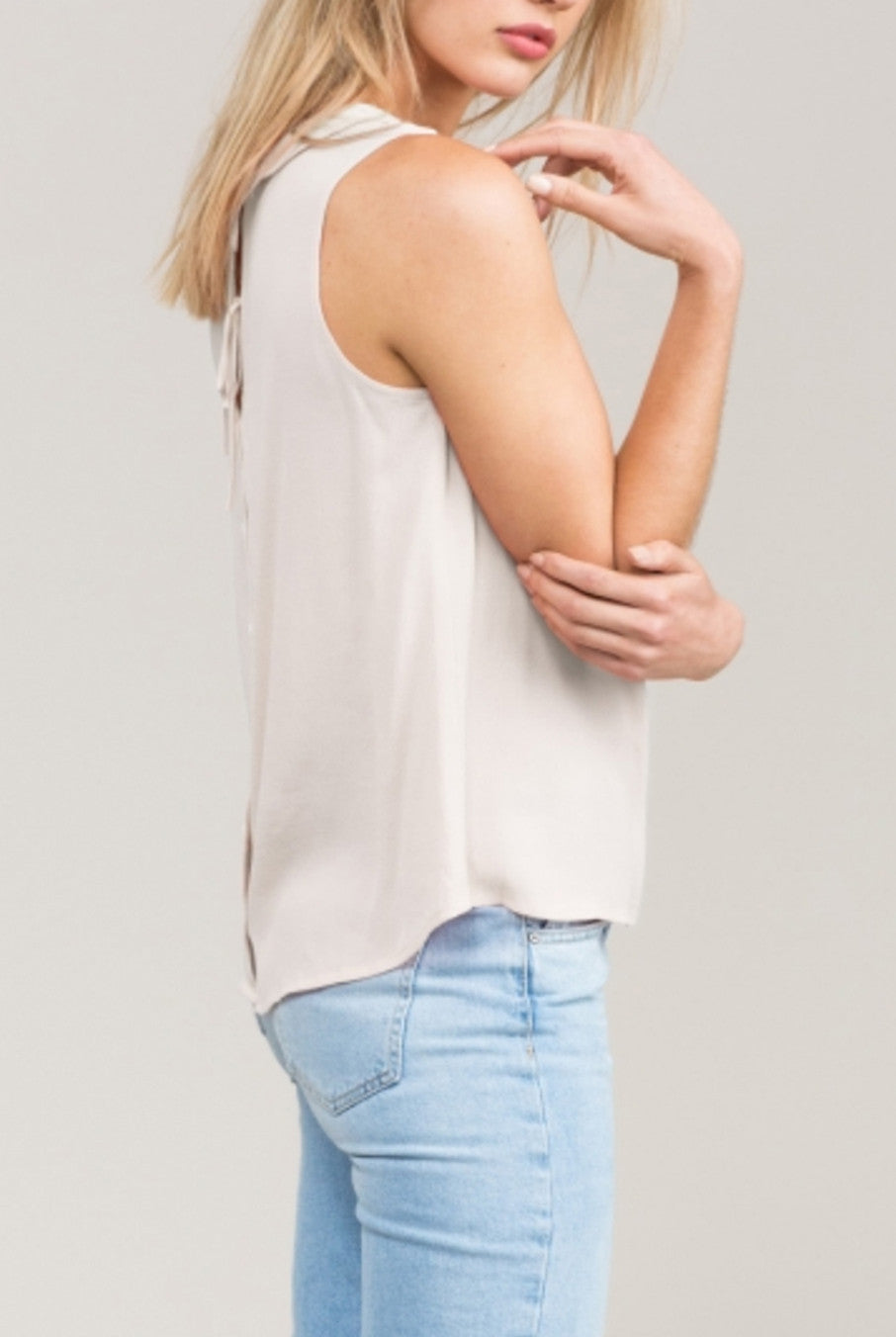 9beea32ac8545b Jayla Button Back Top by Eden Society - Hourglass Boutique