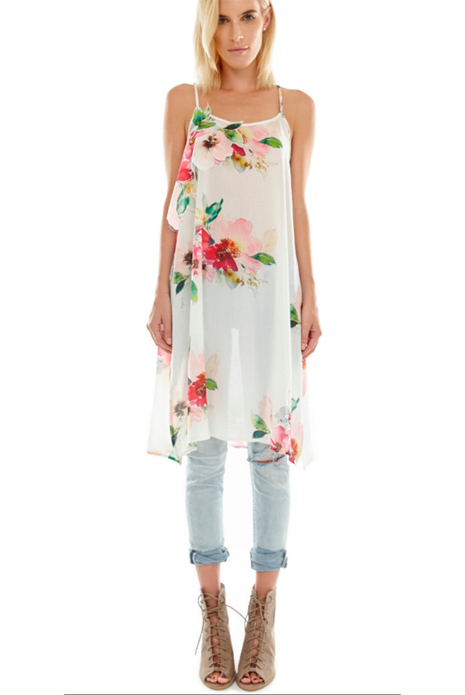 Eden Floral Tunic By Aratta Hourglass Boutique