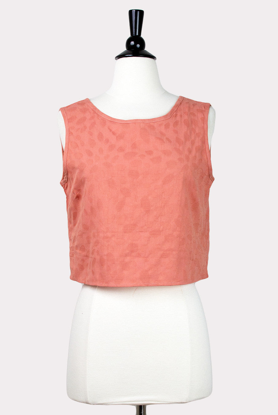 e4f0d7362e917c PepaLoves Anastasia Coral Bow Back Crop Top - Hourglass Boutique - 1 ...
