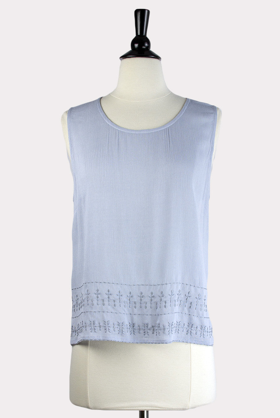 4c704e8979c05c Eden Society | Agnese Light Blue Embroidered Top - Hourglass Boutique - 1  ...