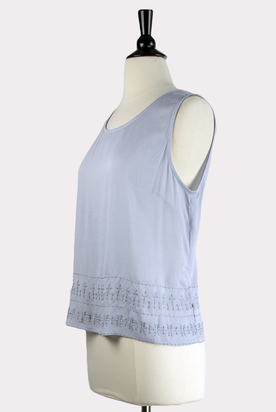04cf1705baf452 ... Eden Society | Agnese Light Blue Embroidered Top - Hourglass Boutique -  2 ...