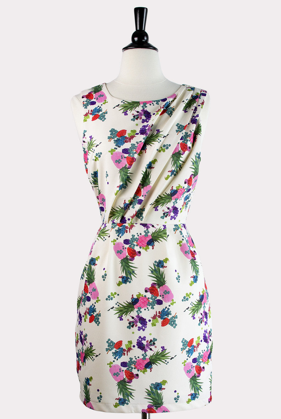 4086ba152f Pineapple Print Sheath Dress - Hourglass Boutique - 1 ...