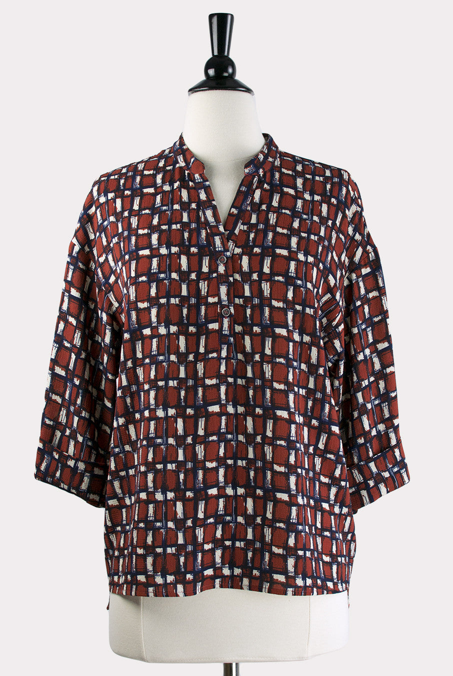 f67c6e2476570f Ina Print Blouse by Eden Society - Hourglass Boutique