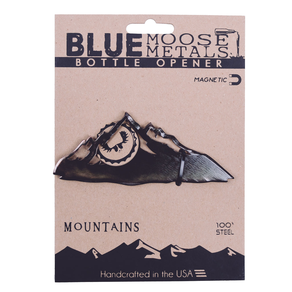 Mountain Range - Magnetic Steel Bottle Opener