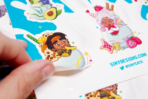 Voltron Milkshake Sticker Sheet