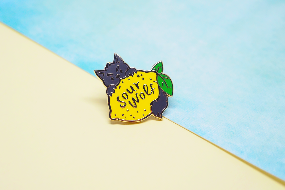 Sour Wolf Pin