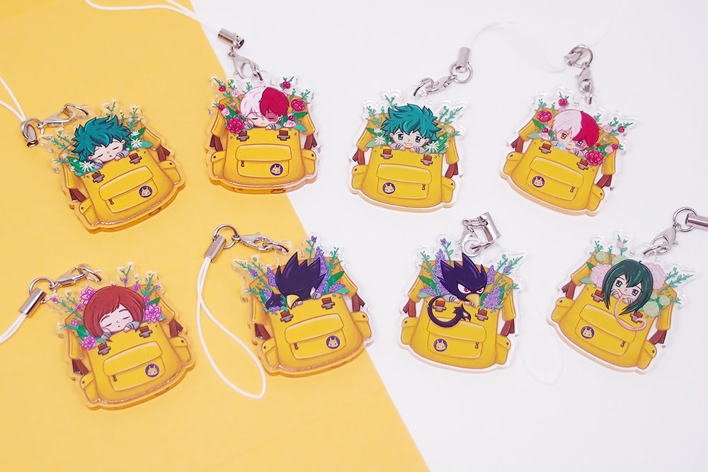 BNHA Backpack Acrylic Charms
