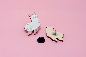 Alpaca Wooden Pin