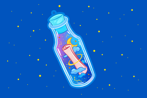 Bottle Message Charm