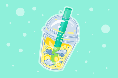 Bubble Tea Sun Charm