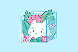 Bunny in a Box Charm