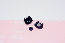 Load image into Gallery viewer, Cat Black Acrylic Pins Set