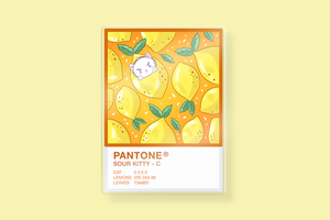 Pantone Sour Kitty Charm