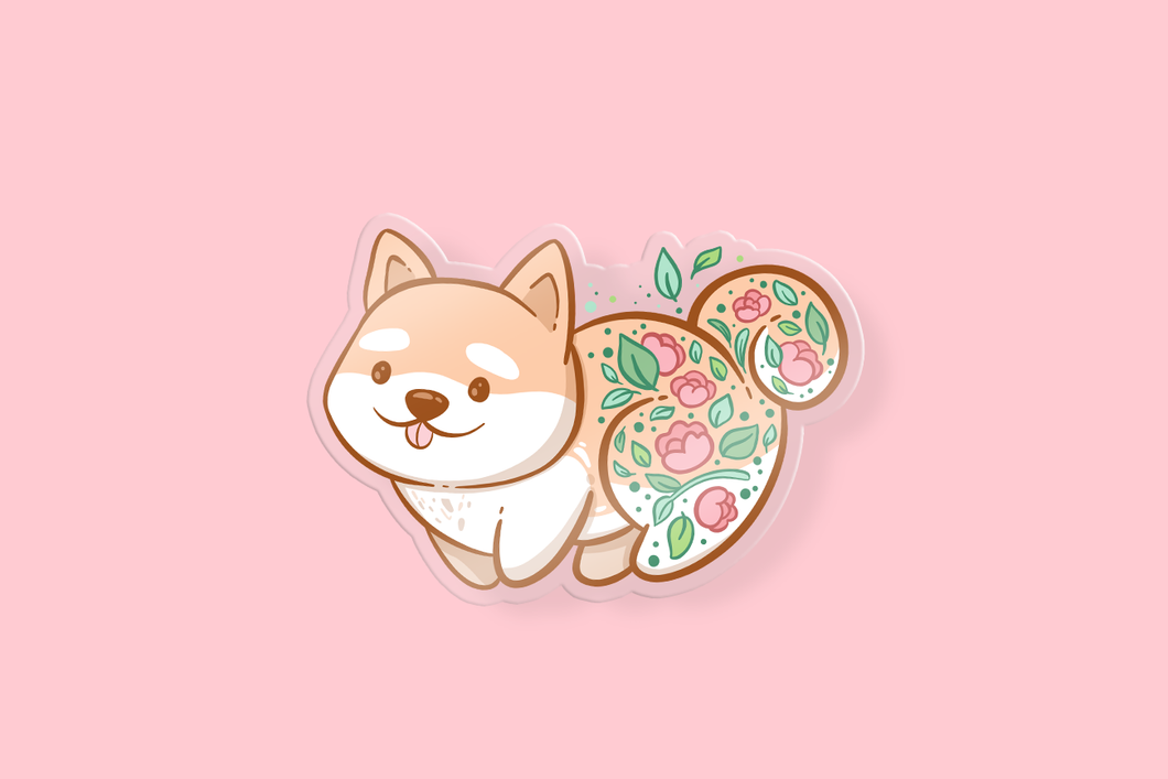 Puppy Flowers Charm