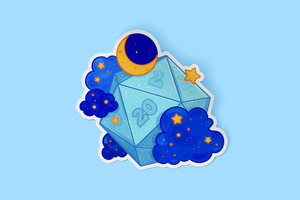 DnD Lucky Dice Sticker